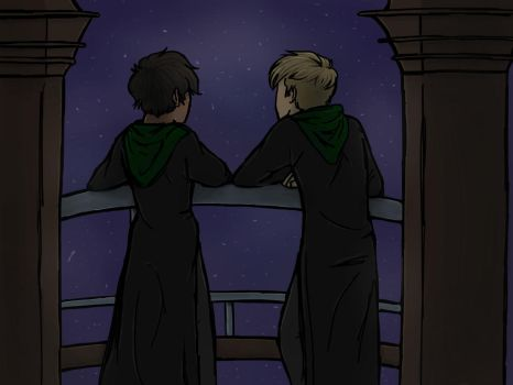 Two Slytherins and the Astronomy Tower by MelancholyScholar