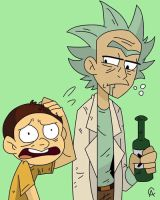 Rick and Morty by WingKips
