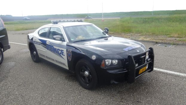 driving in an american dodge police car by retmans