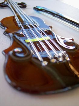 Fused Glass Violin - II by ArtisticFlairbyDeb