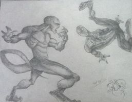 The Amazing Spider-Man vs The Lizard by DeVianThaI