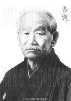 Portrait of Jigoro Kano by siffert