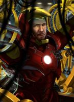 Iron Man: Suiting up by rocketraygun