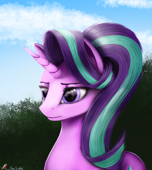 Starlight Glimmer portrait by Pony-Stark