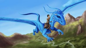 Eragon and Saphira by Aerophoinix
