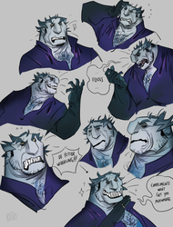 one grouchy villain by Risto-licious