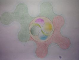 Abstract circle by Aloonthar