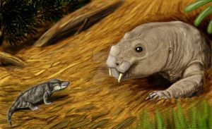Fortunodon trautscholdi and Dvinia prima by DiBgd