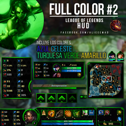 League of Legends PACK  - Full Color Hud #2 by AliceeMad