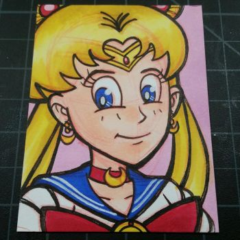 Sailor Moon Sketchcard  by juniorbethyname