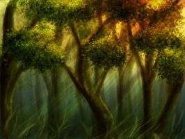 Bgrd Forest fairy 2 p by Ray-Stock