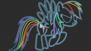 Rainbow Dash Neon-Glow Wallpaper by GT4tube