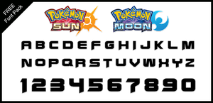 Font Pack: Sun and Moon by Mucrush