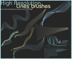 High resolution Lines brushes by danielitolikable