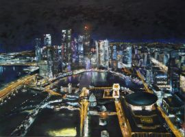 Singapore at Night by j0rosa