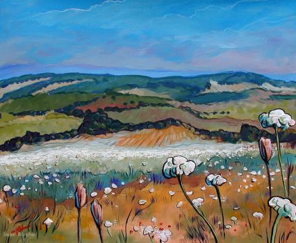 Fields with Yarrow by Art-deWhill