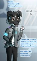 Connor, a dog animatronic sent by Cyberlife by lSpringBunl