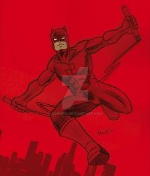 DAREDEVIL POSE by ADRIAN9