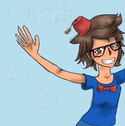Me, with a fez, bow tie...yeah. by CupcakeCarmen123