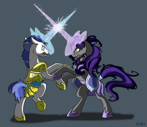 Unicorn Fencing (ATG day 4 2016) by TorusTheScribe