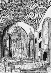 Gothic revival interior by Mobicca