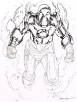 DSC-IronMan Inking by The-Tinidril