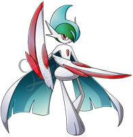[Pokemon] Mega Gallade by chemicaRouge