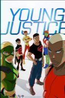 Young Justice 3D Anaglyph by xmancyclops