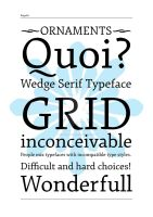New typeface by veiartistica