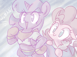 Sparklus and Pans by thegreatrouge