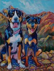 Mountain dogs by jupiterjenny
