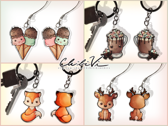 Keychains + Phone charms by Chibivi-Linearts