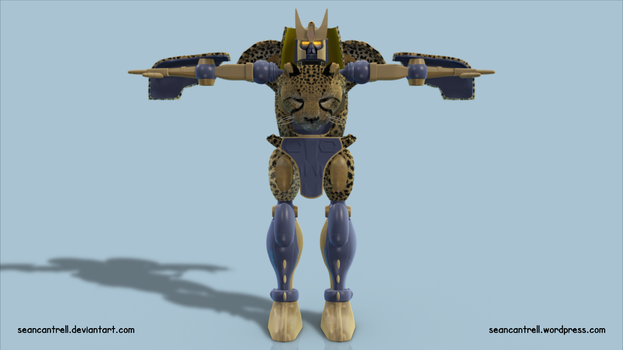 Beast Wars Cheetor - Front by seancantrell