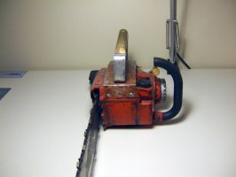 Ash's Chainsaw Front View by ForgedwithFire
