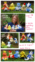 All the babies! Legendary Bird Pokemon plush set