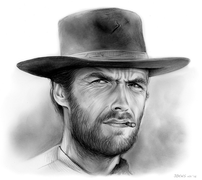 Clint Eastwood by gregchapin