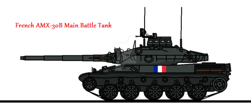 French AMX-30B Main Battle Tank by thesketchydude13