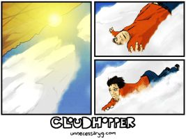Cloudhopper art show page B by geoffsebesta