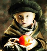 Little Peach by SLMooreFineArt
