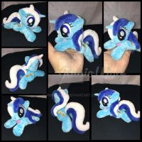 FOR SALE - MLP 6 inch mini Minuette/Colgate beanie by RubioWolf