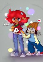 Lammy x PaRappa  ( Again ? ) by NicMangle