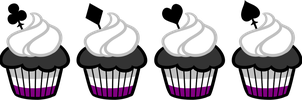 Ace Cupcakes Set by Galadnilien