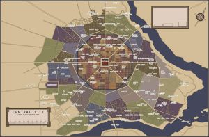 Central City map by PosterMasterChef