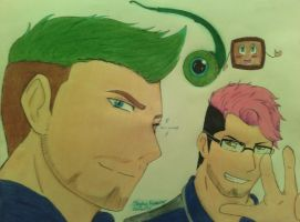 Markiplier and Jacksepticeye anime (surprise art) by DragonGoddess7