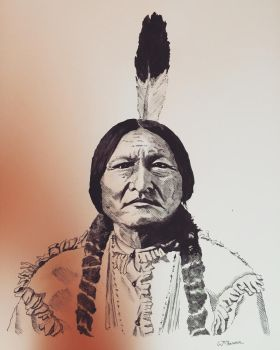 Sitting Bull Portrait by TheWestIsNotDead