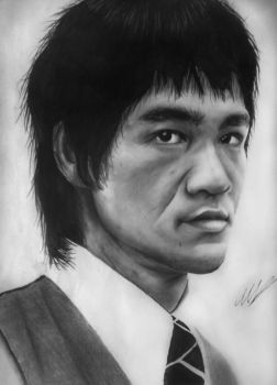 Bruce Lee Pencil Drawing by aforarts