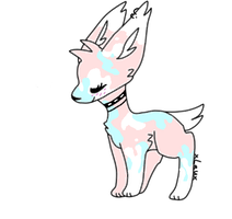 CLOSED : Splattered Pup Adopt by Violeta-Adopts