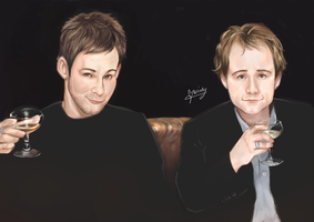 LOTR CAST  Dom and Billy by l3earFat