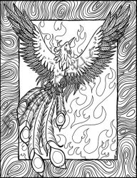 Phoenix Rising Coloring Page by benwhoski