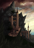 Castle illustration by nutty-acorn